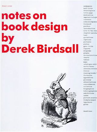 Notes on book design derek birdsall