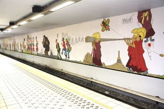 Stockel-train-station-tintin-mural