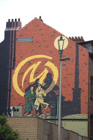 Blake-et-Mortimer-mural