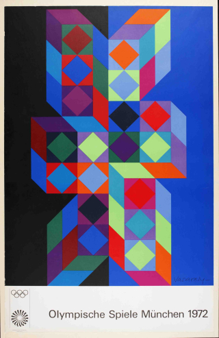 Edition-olympia-poster-for-munich-olympic-games-1972-by-victor-vasarely