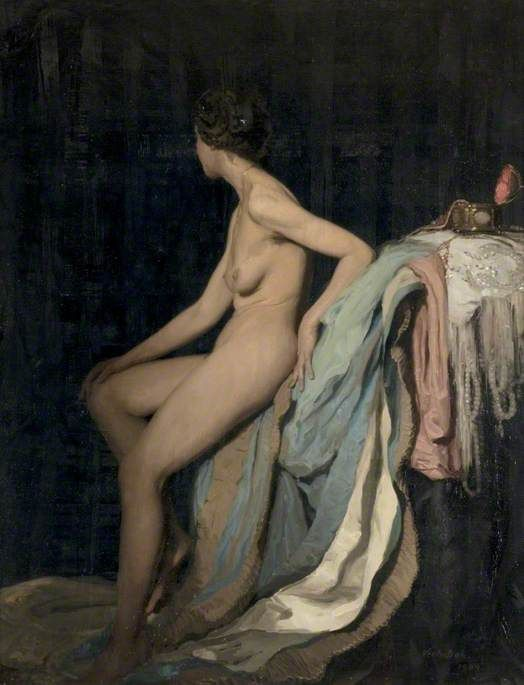 William Nicholson painting Carlina in 1909