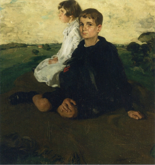 Sir-William-Nicholson-xx-Portrait-of-the-Children-of-General-John-A-Logan-xx-Private-collection