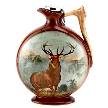 KNG-Monarch-Glen-Flask-Circular Dewar's Whiskey on back (1919)