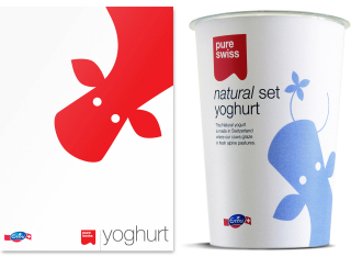 Pure Swiss yoghurt packaging design - Studio h 01